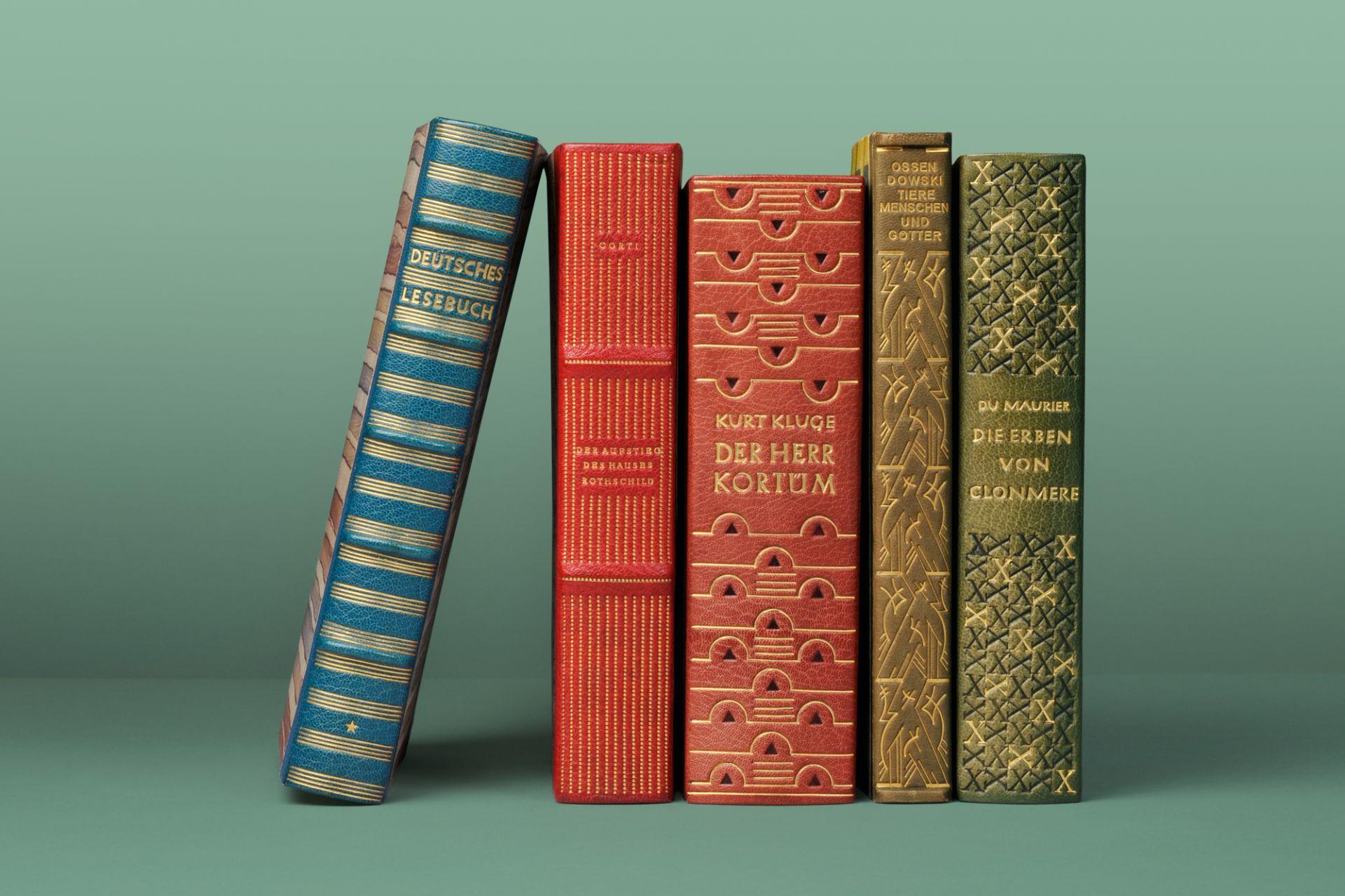 Bucheinbände von Otto Fratzscher, Kunstgewerbeschule Offenbach am Main, 1923–1954