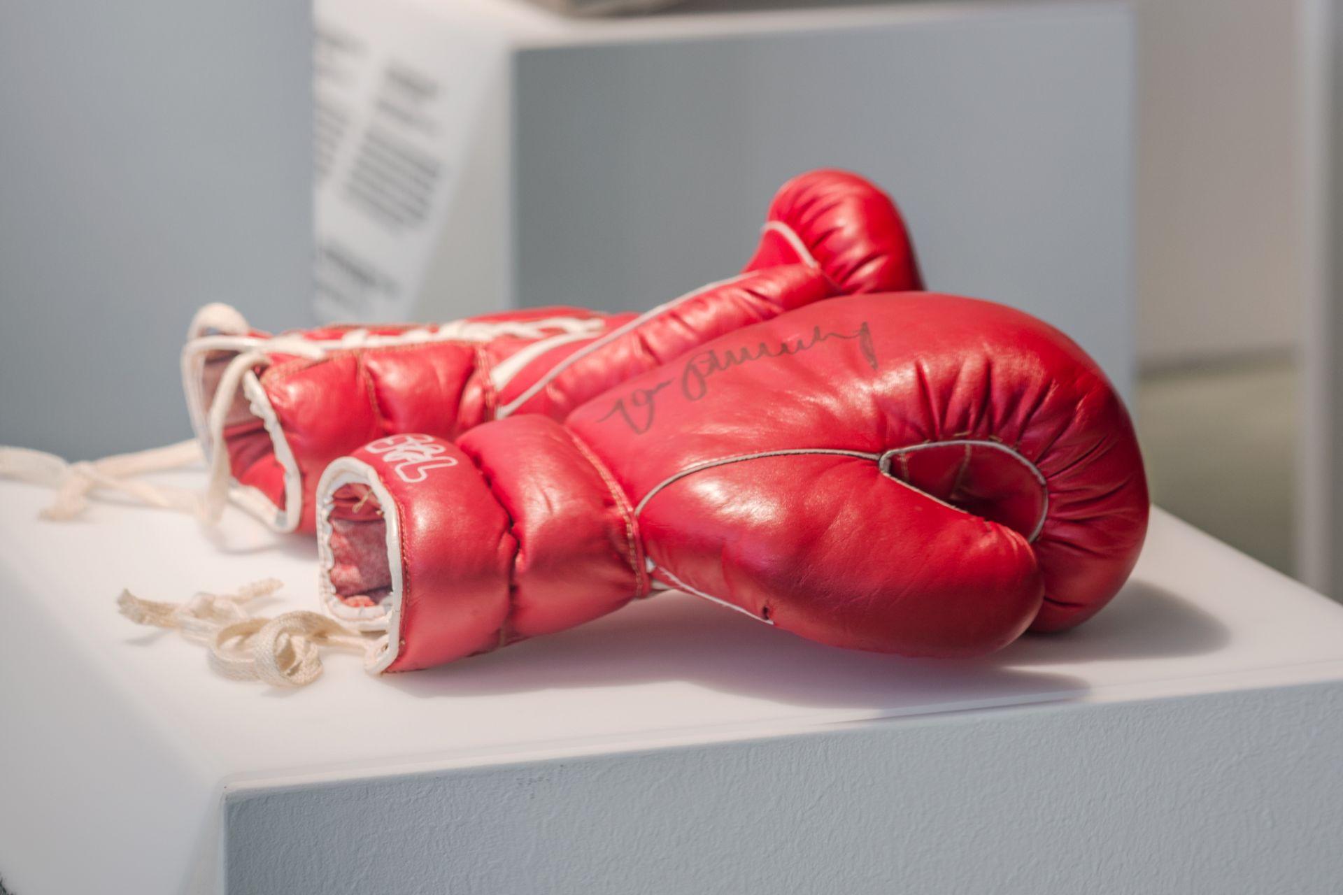 Boxhandschuhe von Max Schmeling, Deutschland, um 1970