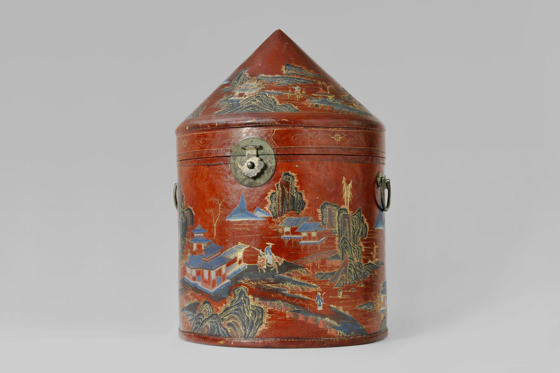 Hat box, Gaozhou (Guangdong Province), China, 19th century