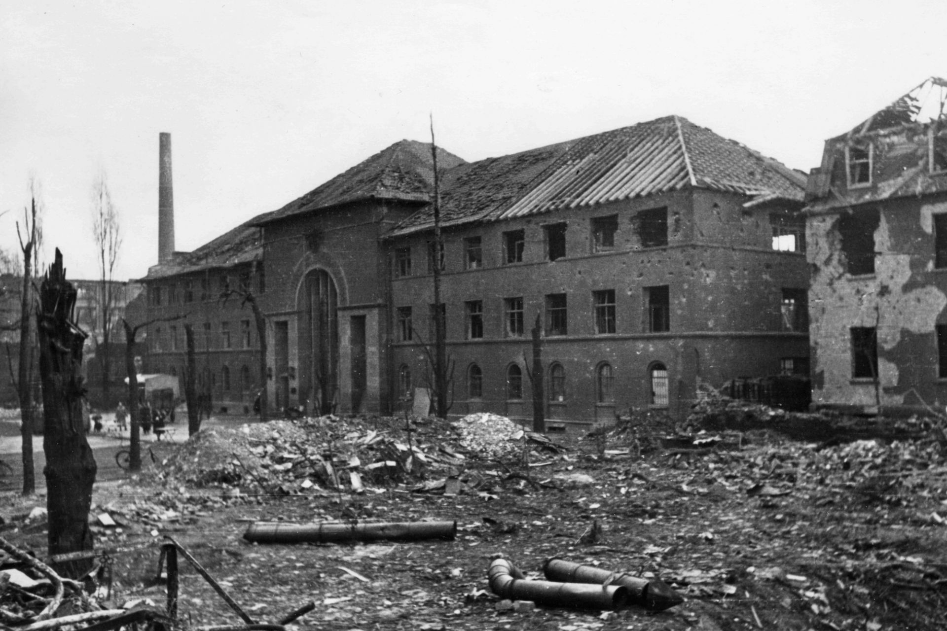 The German Leather Museum after bombing, 1945
